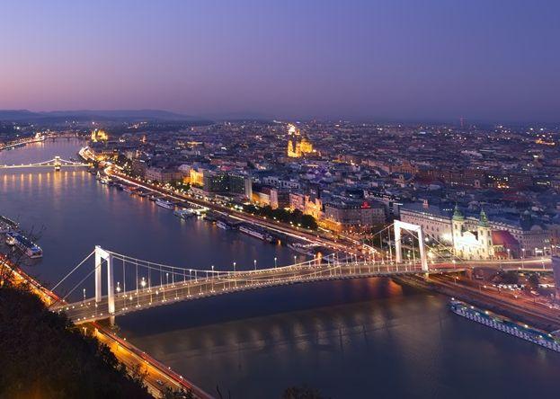 A budapesti belváros madártávlatból