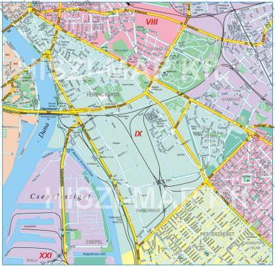 budapest 9 kerület térkép IX. kerület   Ferencváros | Friss budapest 9 kerület térkép